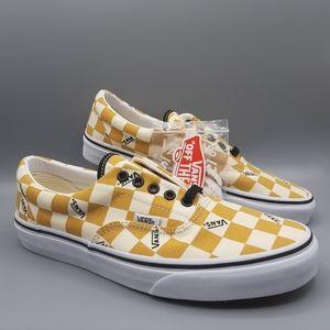 Vans Era Big Check Checkerboard Yolk Yellow White
